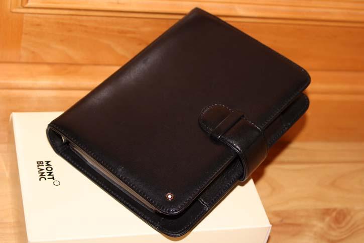 Montblanc Meisterstück Platin 12cc Organizer / Mappe Leder schwarz 19 x 14 x 4cm