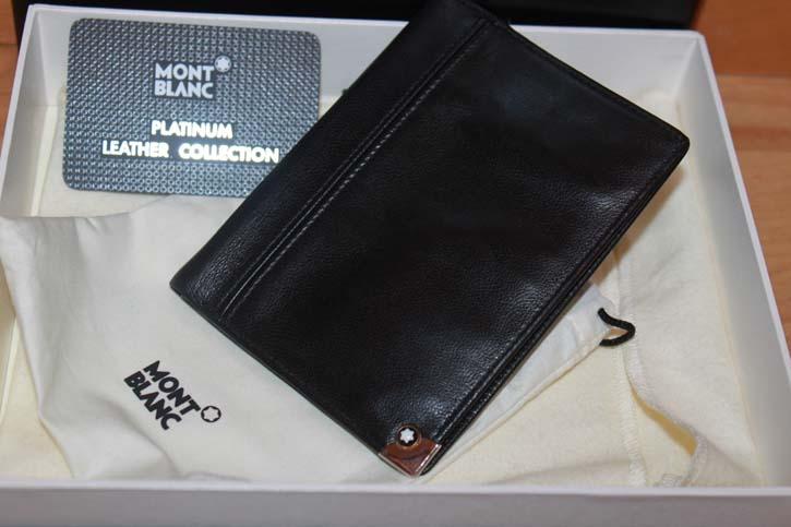 Montblanc Meisterstück Platin 3cc Wallet / Ausweis Mappe aus Leder