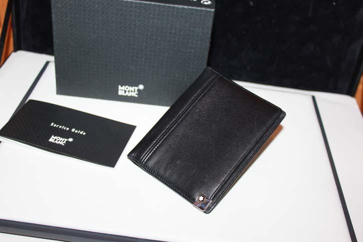 Montblanc Meisterstück Platin 3cc Wallet / Mappe aus Leder