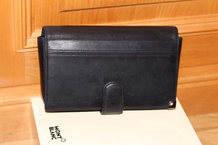 Montblanc Meisterstück Platin 4cc Wallet / Reise Tasche Leder schwarz