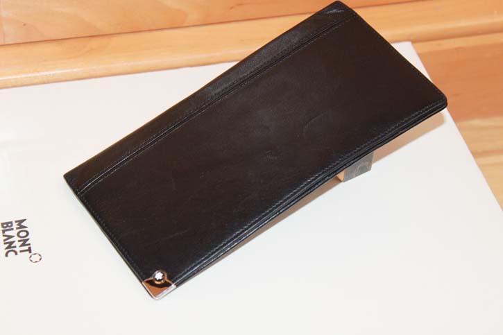 Montblanc Meisterstück Platin 4cc Wallet / Ausweis Reise Mappe Leder schwarz