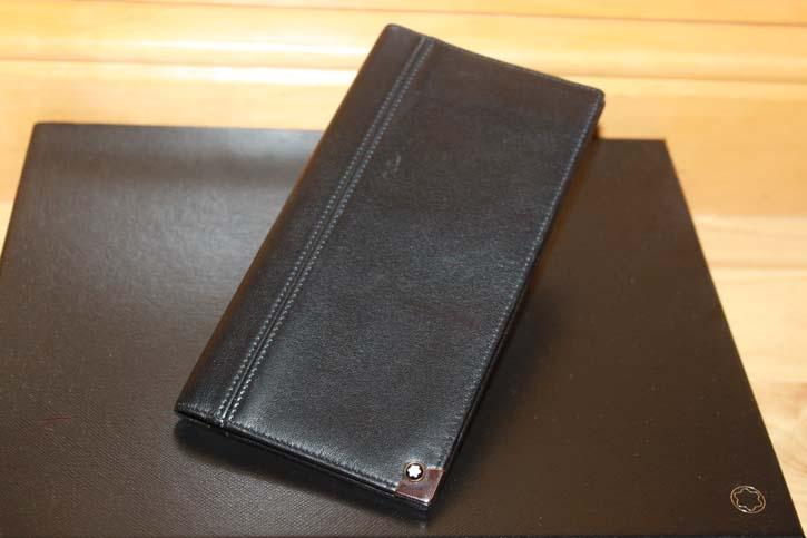 Montblanc Meisterstück Platin 6cc Wallet / Reise Brieftasche aus Leder