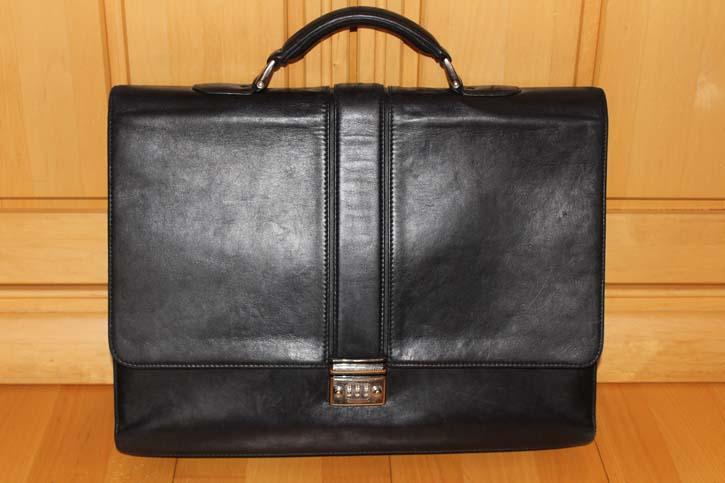 Montblanc Meisterstück Platin Briefcase Tasche / Aktentasche Leder 42 x 32 x 6cm