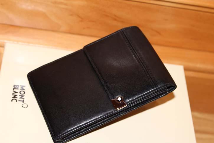 Montblanc Meisterstück Platin Gürtel Tasche Etui Leder in schwarz