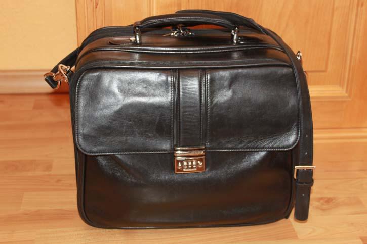 Montblanc Meisterstück Platin Reise Tasche / Weekender Bag 38 x 30 x 18cm