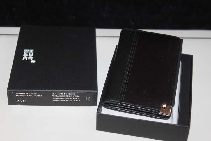 Montblanc Meisterstück Platin 2cc Wallet / Visitenkarten Etui