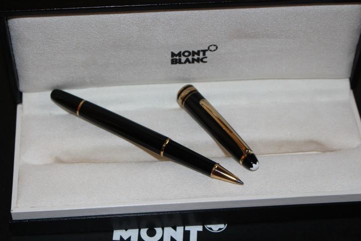 Montblanc Meisterstück N° 163 Roller Ball / Fineliner Schwarz & Gold