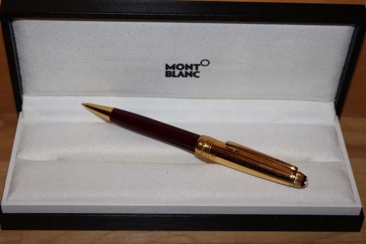 Montblanc Meisterstück Solitaire Doue Bleistift 925er Sterling Silber Bordeaux