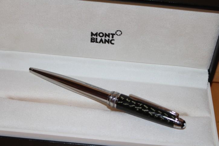 Montblanc Meisterstück Solitaire Carbon & Steel N° 164 Kugelschreiber in OVP