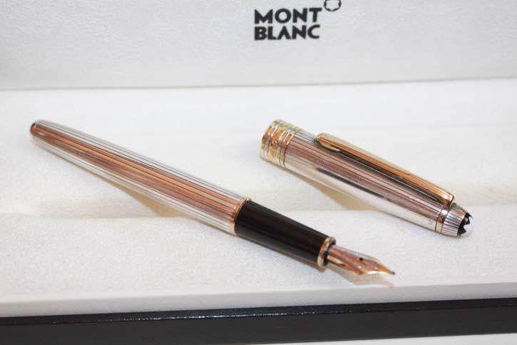 Montblanc Meisterstück Solitaire N° 144 Füllfederhalter aus 925er Sterling Silber