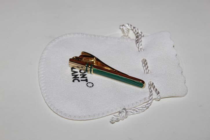 Montblanc Meisterstück Solitaire NIKOLAI I Krawattenklammer / Tie Bar aus 925er Silber und Malachite