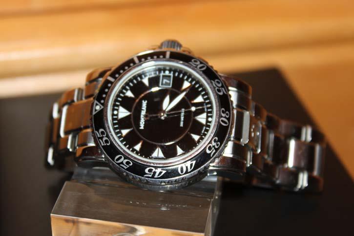 Montblanc Meisterstück Sport Large Uhr Stahl / Stahl in OVP mit Papieren