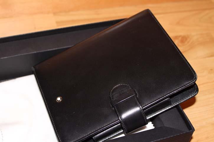 Montblanc Meisterstüc DIN A´6 Organizer / Timer aus Leder schwarz in OVP