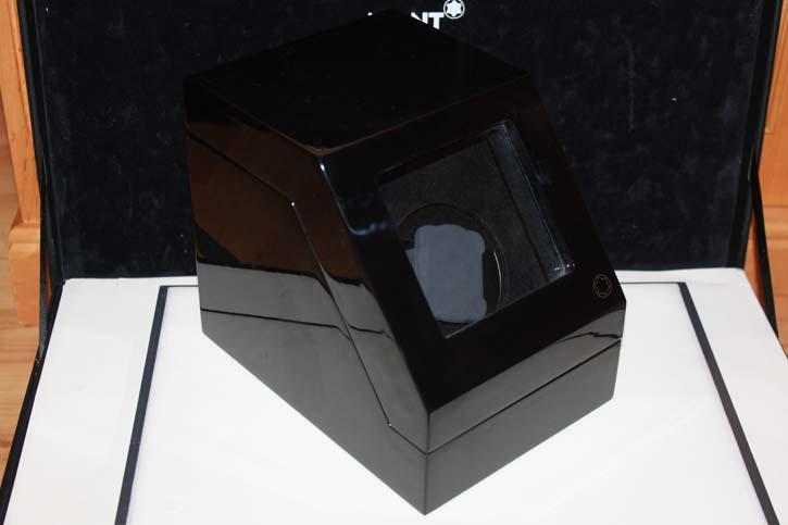 Montblanc Meisterstück Uhrenbeweger Holz mit Klavierlack schwarz 19 x 17 x 14cm in OVP mit Bedienungsanleitung