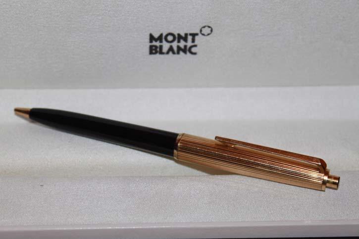 Montblanc N° 164 Bleistift in Edelharz schwarz und Golden aus den 60er Jahren