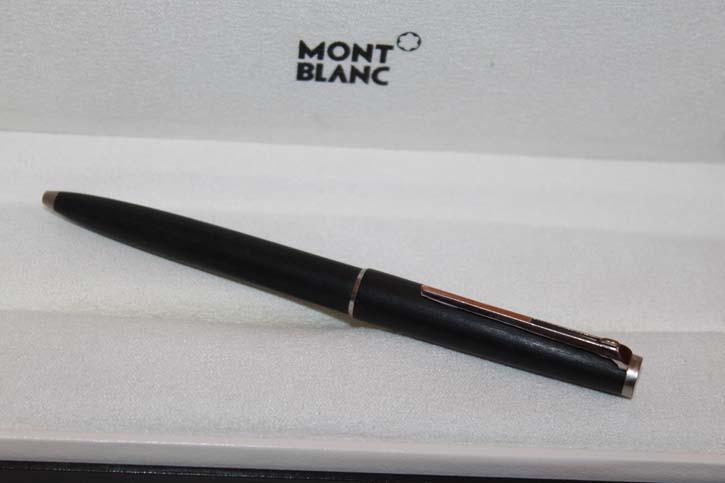 Montblanc N° 280 Hebel Kugelschreiber in schwarz aus den 80er Jahren