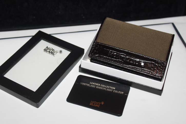 Montblanc Nightflight 2cc Kreditkarten Etui / Business Card Holder Neu in OVP