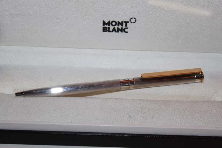 Montblanc Noblesse Kugelschreiber komplett in versilbert RAR