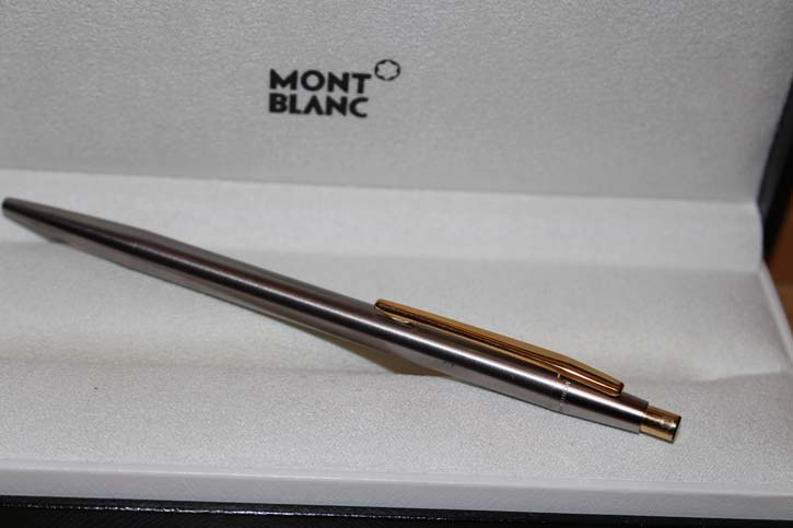 Montblanc Noblesse Kugelschreiber in silber und gold 80er Jahre