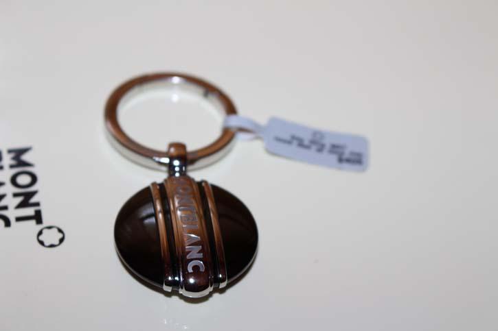 Montblanc Meisterstück Solitaire Schlüsselanhänger Key Ring mit PVD Platte Neu