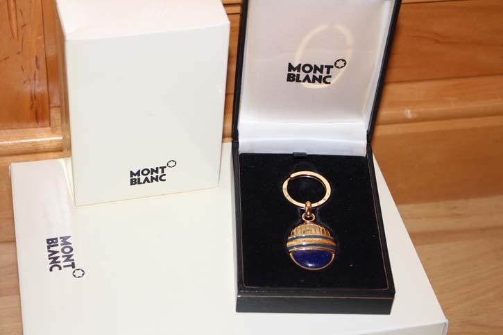Montblanc Meisterstück Ramses Schlüsselanhänger Key Ring Lapis Lazuli Edelstein