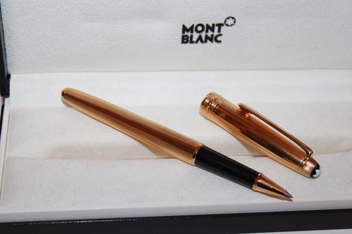 Montblanc Meisterstück Solitaire Vermeil N° 163 Roller Ball aus 925er Sterling Silber vergoldet