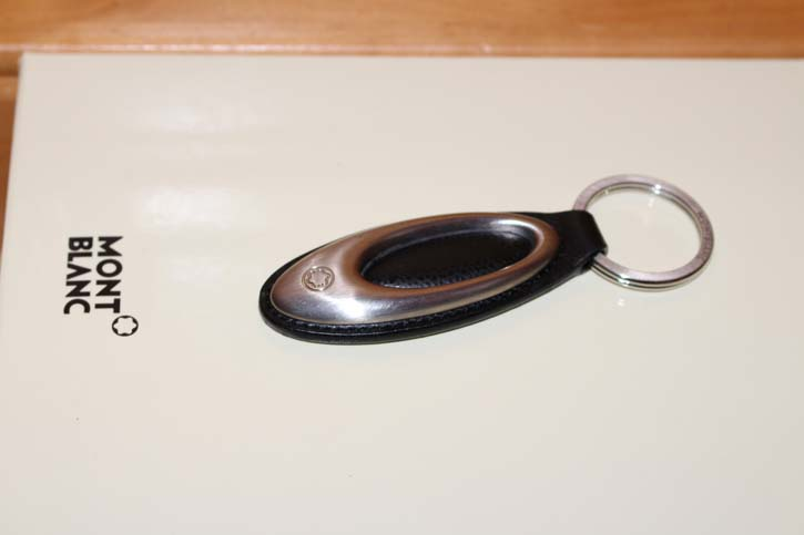 Montblanc Meisterstück Schlüsselanhänger Leder und Edelstahl 11cm