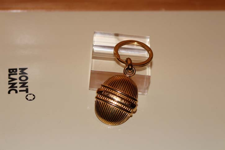 Montblanc Meisterstück Solitaire Vermeil Schlüsselanhänger vergoldet Key Ring