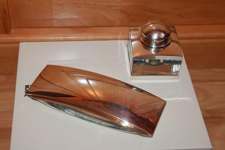 Montblanc Meisterstück Solitaire Le Grand 925er Sterling Silber Tintenfass Fass