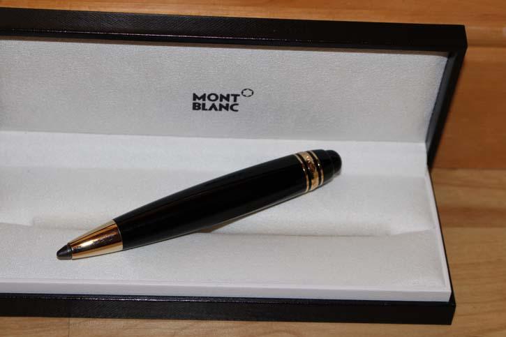 Montblanc Meisterstück Leonardo Sketch Pen N° 169 Bleistift Schwarz & Gold TOP