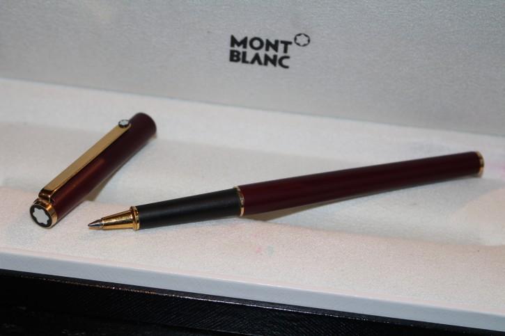Montblanc Slim Line Roller Ball Edelstahl Bordeaux & Gold 80er Jahre