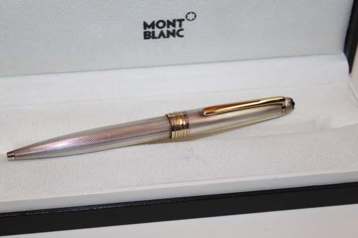 Montblanc Meisterstück N° 164 Solitaire 925er Sterling Silber Kugelschreiber