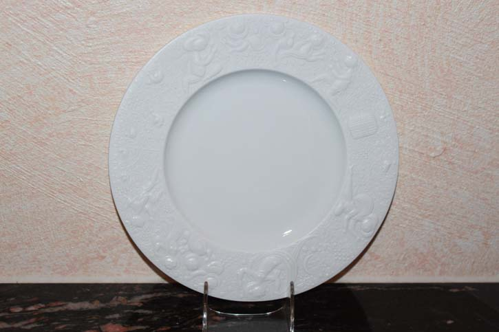 Rosenthal Björn Wiinblad - Die Zauberflöte - Kuchen Teller 22cm in weiss