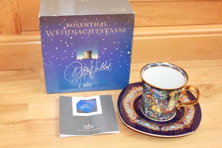 Rosenthal - Björn Wiinblad die Weihnachtstasse 1996 - Kaffee Tasse Neu in OVP
