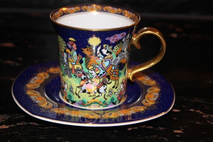 Rosenthal - Björn Wiinblad die Weihnachtstasse 1997 - Kaffee Tasse Neu