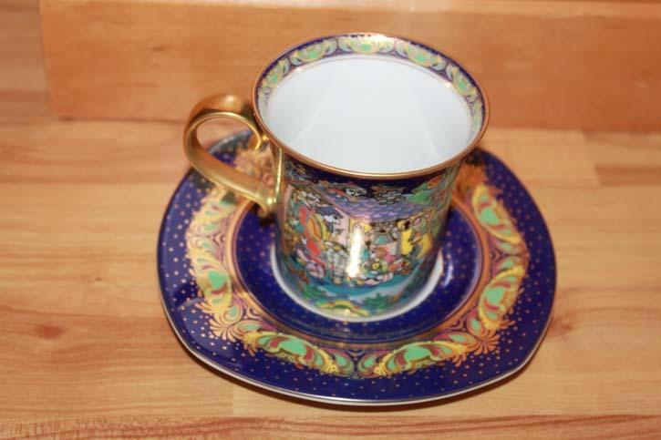 Rosenthal - Björn Wiinblad die Weihnachtstasse 2004 - Kaffee Tasse Gedeck