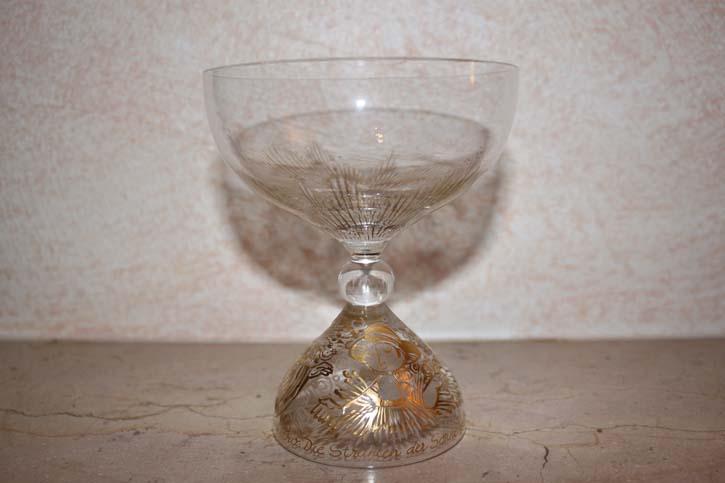 Rosenthal - Björn Wiinblad Die Zauberflöte - SARASTRO - Champagner Schale Glas