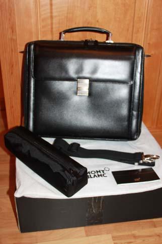 Montblanc Meisterstück Laptop Tasche / Business Tasche Leder NEU mit Zubehör - Id. Nummer 35794