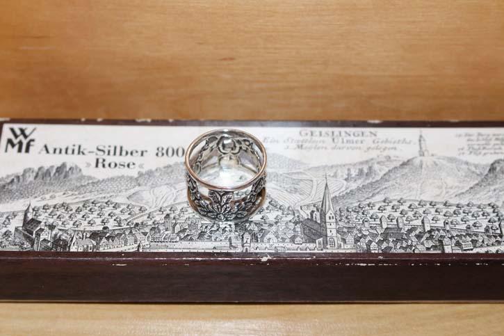 WMF * Hildesheimer Rose * alter Serviettenring 800er Silber massiv