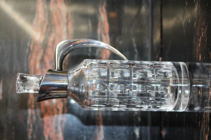 WTB Wein oder Likör Karaffe 925er Silber & Kristall Glas ca. 24 x 8cm & 875g