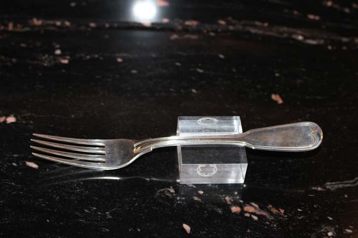 Wilkens Augsburger Faden Dessert Gabel 800er Silber ca. 17,5 cm und 44,8 Gramm