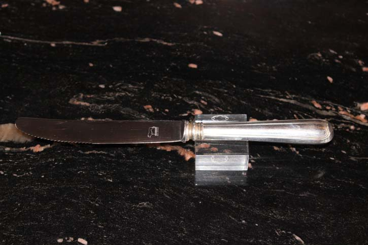 Wilkens Augsburger Faden Obst Messer 800er Silber ca. 19,5 cm und 52,8 Gramm