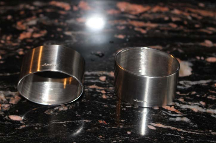 Wilkens Design Spaten Serviettenring Edelstahl versilbert 5 x 3,5cm & 38 Gramm