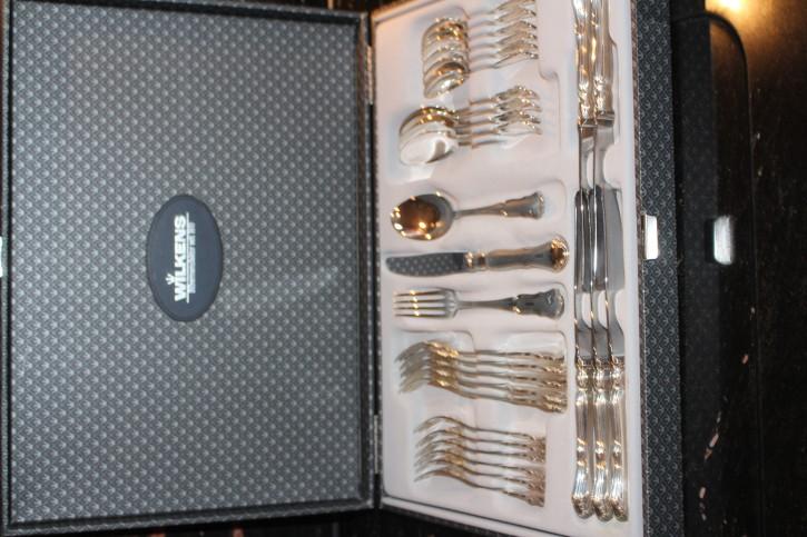 1 x Wilkens Dresdner Barock Menü Gabel 925er Sterling Silber ca. 19cm und 56g