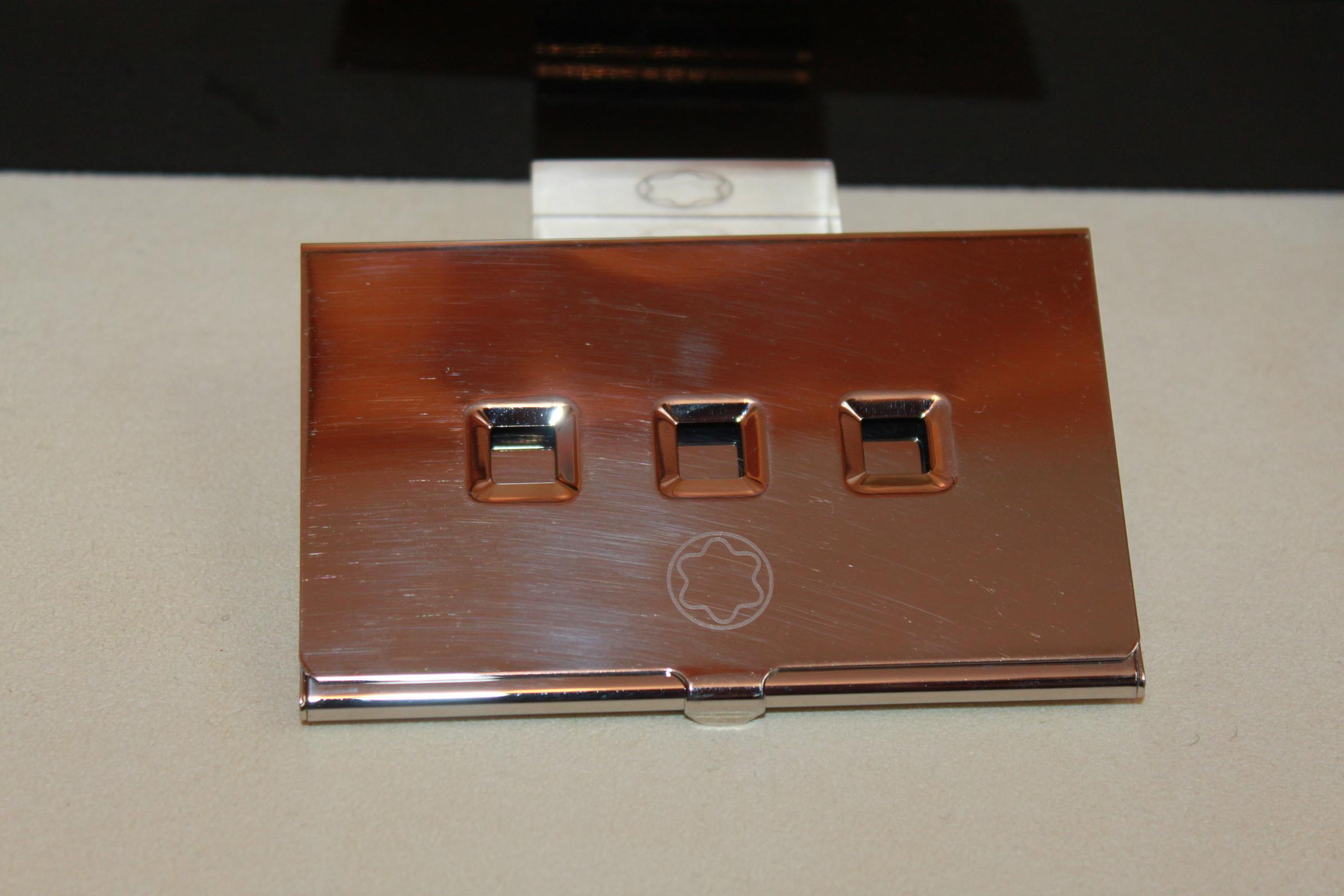 Montblanc Lifestyle Accessories Visitenkarten Karten Etui Box In Platiniert