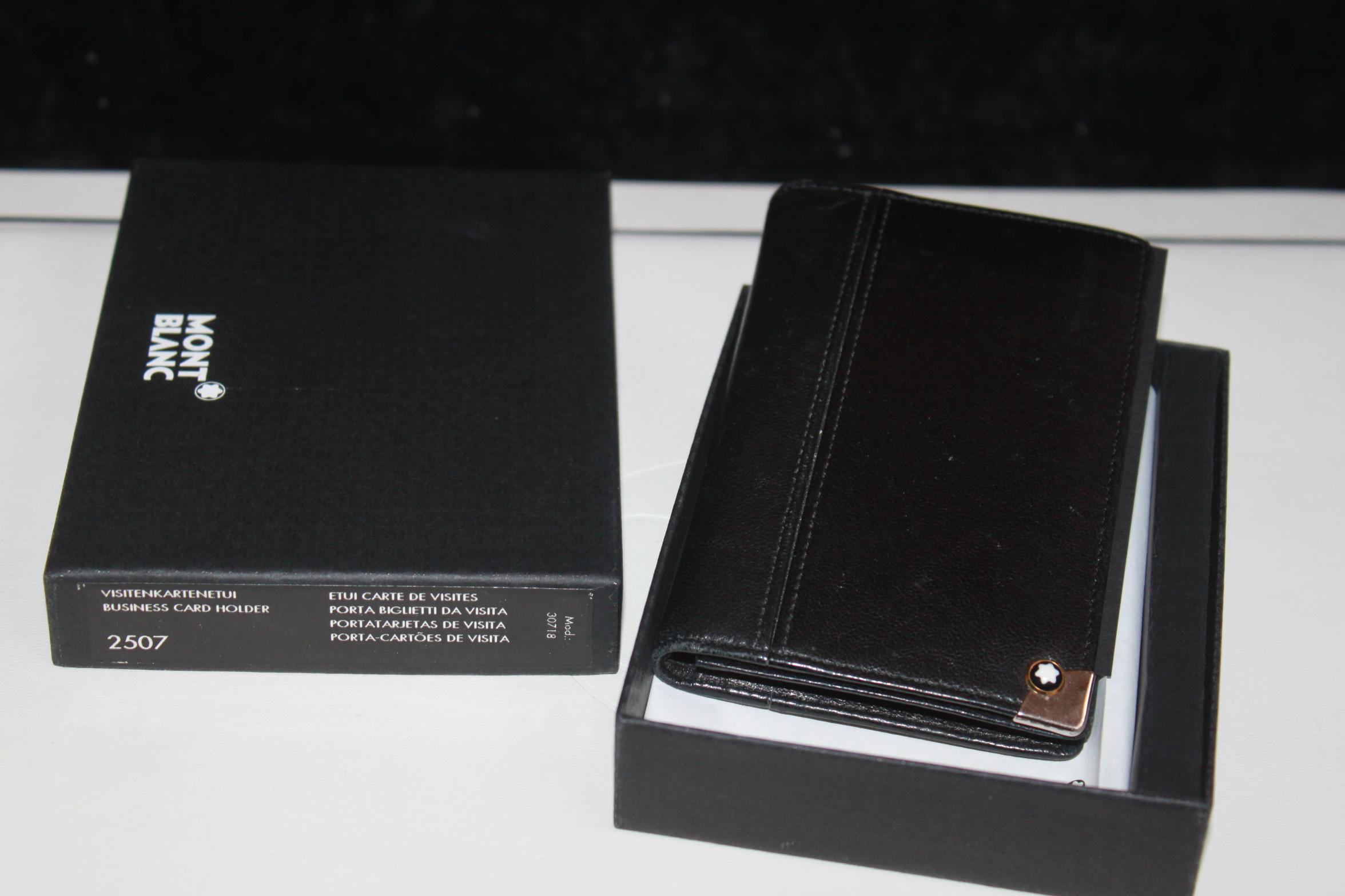 Montblanc Meisterstück Platin 2cc Wallet Visitenkarten Etui