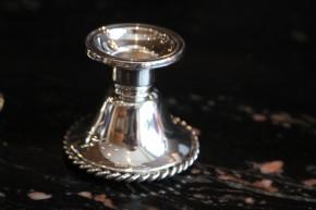 2 Kerzenhalter von W.T. Binder WTB 925er Sterling Silber ca. 5 x 4,5cm & 136g
