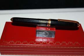 Cartier - Louise de Cartier Roller Ball Chinalack Schwarz & Gold