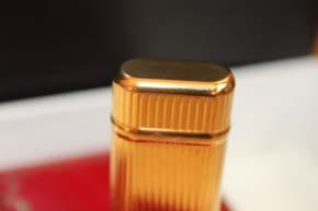 Cartier Feuerzeug in vergoldet mit Faden Guilloche Muster - mit OVP & Papieren