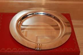 Cartier Tinity Prunk Teller oder Schale 16cm versilbert 218 Gramm TOP